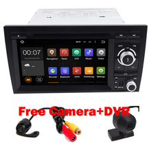 "HD 7"" Capacitive Screen 1024*600 Pixels Flash 16GB Quad Core Android 5.1 Car DVD For Audi A4 2002-2008 support OBD DVR 3G WiFi"