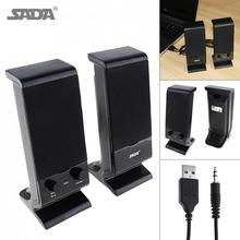 Portátil Mini Subwoofer altavoz de la computadora con 3,5mm Audio y USB 2,0 enchufe con cable para PC portátil de escritorio teléfono Móvil(China)