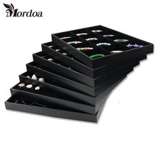Brand New Quality Jewelry Trays Jewelry Display Holder Bracelet Ring Earring Necklace Pendant Box Case Jewelry Storage Organizer(China)