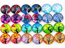 Hot Sale 50pcs 12mm Mixed Handmade Photo Glass Cabochons (D5-37)(China)