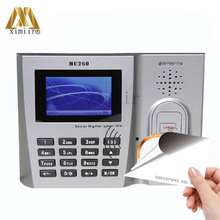 ZK MU260 RFID Card Time Attendance EM Card Time Clock TCP/IP USB Biometric Time Recorder ID Card Reader Employee Attendance