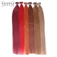 "Neitsi 20"" Brazilian Remy Human Hair I Tip Stick Tip Keratin Fusion Hair Extensions 1g/s 50g 100g Straight Hair 16 Colors Option"