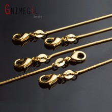 "GNIMEGIL 8 Sizes Gold Chains Necklace 16""-30"" Yellow Gold Filled 1mm Snake Chain for Pendant Lobster Clasps Women Men Jewelry"