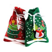 2pcs Funny Christmas Candy Pouch Christmas Gift Bag Holder Organza Bag Christmas Xmas Gift New Year(China)
