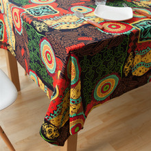 1 pcs Boho Sunflowers Cotton linen tablecloth Wedding Party Table cloth Cover Home decor decoration Tablecloths nappe noel 44040
