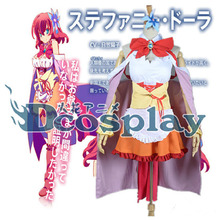 Anime NO GAME NO LIFE Stephanie.Dora Suit Of Cosplay Costume Fashion Dress S-XL Any Size Skirt NEW