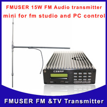 fmuser CZE- 15B 15W transmitter Professional PC Control  FM radio and DP100 dipole antenna A KIT  Free Shipping