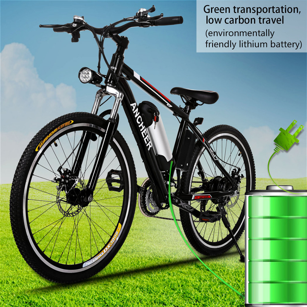 "25 "" 250W Electric Bike Aluminum Alloy EBike 21 Speed Mountain Bike City Road Electric Power Bicycle Disc brake bike Bicicleta(China)"