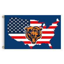 Us America city Usa Country Chicago Bears Flag Banners Football Team Flags 3x5 Ft Super Bowl Champions Banner Red Star 90 x 150