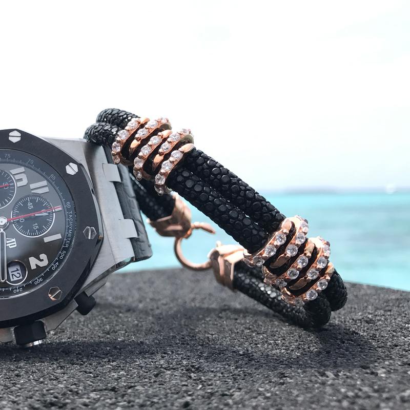 luxury sterling silver stingray bracelet-VSST-01 live pictures (13)
