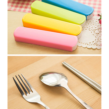1 Set X Tableware Set 3 Pcs/lot New Fork set Travel camping Stainless Steel Cutlery Portable box case Picnic