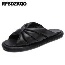 8bc45d49b1f46 Cute Slip On Ladies Bow Casual Soft Kawaii Slipper Bowtie Flat Slides  Designer Sandals Women Luxury 2018 Shoes Wide Fit Open Toe