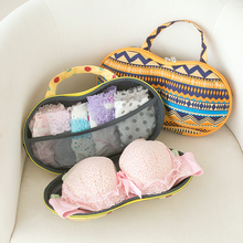 Stylish Portable Lingerie Storage Case Sexy Lady's Colorful Bra Chest Bag Underwear Organizer Travel Bag For Women 62535-01(China)