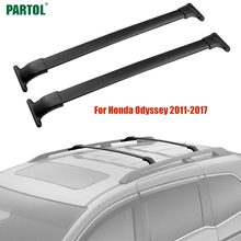"Partol 44"" Car Roof Racks Cross Bars Crossbars Kit 60kg 132LBS Cargo Luggage Snowboard Carrier Top For Honda Odyssey 2011-2017(China)"