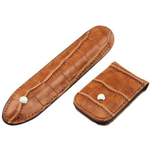 A variety of color options Most popular Crocodile Skin exquisite carving pattern leather pen case AND Wallet(China)