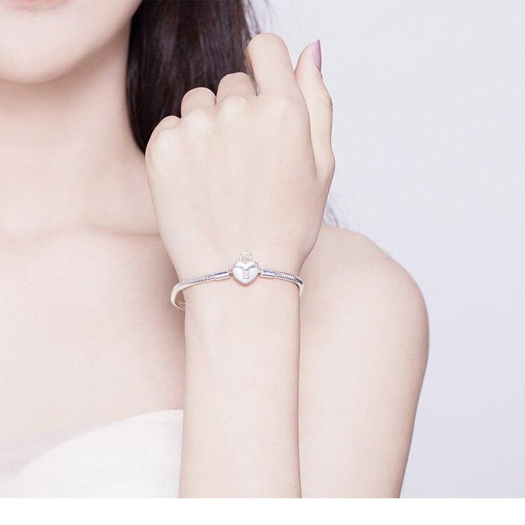 bracelet a charm cadenas tendance glamour