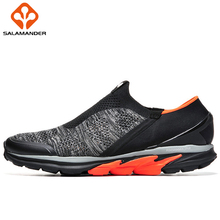 SALAMANDER Mesh Breathable Running Shoes For Men Light Weight Massage Sport Shoes Summer Outdoor Sneakers Brand Run Shoes Women(China)