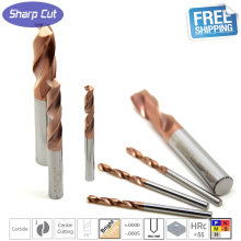 1 Pack Micro grain solid Tungsten carbide CNC Twist Drill Bits HRC55,Carbide Drill bits For Metal working 3,4,5,6,7,8,9,10,11,12(China)