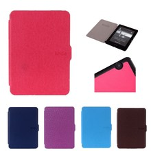 "Solid Smart Case For Amazon Kindle Voyage 6.0"" Tablet Slim Flip Auto Sleep/Wake up Protective Leather Cover For Kindle Voyage(China)"