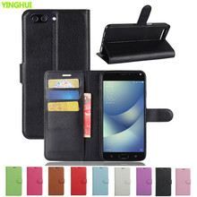 Asus Zenfone 4 Max ZC554KL Case Luxury Wallet PU Leather Case For Asus ZC554KL Flip Protective Cell Phone Shell Back Cover Bag