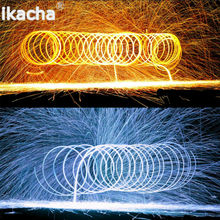 Trending Photography Spectacular Fiery Photo Selfie Tool Steel Wool High Quality Metal Fiber for Light Painting Long-exposure(China)