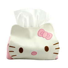 Hello Kitty Cute Home Car Tissue Case Box Container Length 23CM Towel Napkin Papers Holder Box Case Pouch B