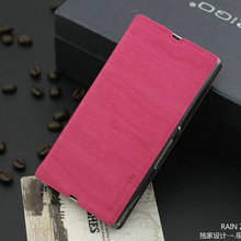 4Color  Brand Leather Case Best Quality Fashion Cheap Flip Stents Phone Cover For Sony Xperia Z L36H Wholesale Discount