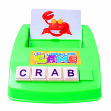 New Arrival Baby Literacy Fun Game Learn English Word Puzzle Children's Educational Toys Learn Words Early Education