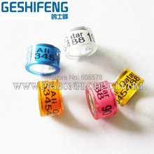hot sell can design your name ,phone number bird foot ring,ring pigeon
