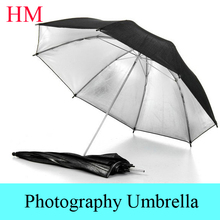 "Tracking Number+ New photo umbrella size 33""83cm Photo Studio Flash Light Reflector Reflective Black Sliver Photography Umbrella"
