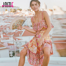 Buy Jastie Siren Song Strappy Dress Boho Floral Print Women Dresses Straps Open Back Sexy Dress 2018 Summer Beach Casual Vestidos for $33.99 in AliExpress store
