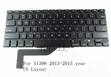 "TPFEEL NEW US Layout Keyboard for Macbook Pro Retina 15"" A1398 US Keyboard replacement 2013 2014 2015 Year"