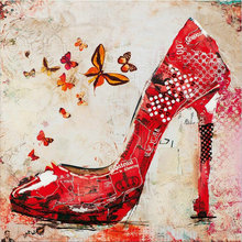 5D DIY Diamond Painting Cross Stitch Red high-heeled shoes diamond Embroidery icon Rhinestone Full Diamond Mosaic Home Decor