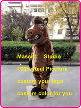 brown horse mascot costume mustang stallion custom cartoon character cosplay mascotte carnival costume fancy dress 41540