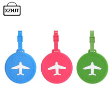 Fashion Luggage Tags Silica Gel Funky Travel Luggage Label Straps Suitcase Laggage bags Accessories(China)