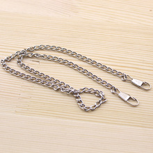 20pcs/lot 1*40cm Silver tone  Metal Purse Frame Short Chains Straps Bag Sewing Sewer Craft Accessories FF28-4