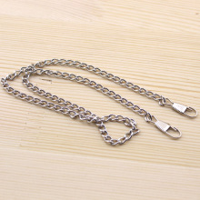 20pcs/lot 1*40cm Silver tone Metal Purse Frame Short Chains Straps Bag Sewing Sewer Craft Accessories FF28-4(China)