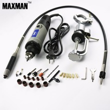 MAXMAN Dremel Drill Electric Mini Die Grinder & Bench Clamp & Flexible Shaft Multifunctional Electric Rotary Power Tools Set(China)