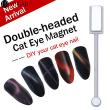 Double-headed Magnetic Plate Magnet Pen Stick Slice Board Nail Art DIY Tool for All Magic 3D Cat Eyes Magnet Nail UV Gel Polish(China)