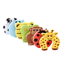 6pcs Kids Baby Cartoon Animal Jammers Stop Edge & Corner for Children Guards Door Stopper Holder lock Safety Finger Protecto