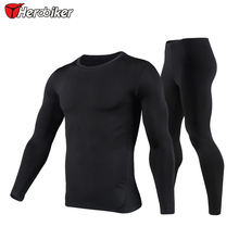 HEROBIKER  Mens Motorcycle  Riding Quick dry Clothing, Winter Thermo Underwear Soft Comfortable Stretch Long Sleeve ,T001