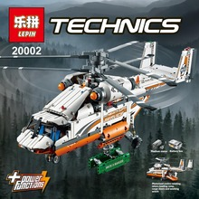 NEW lepin 20002 technic series 1060pcs Double rotor transport helicopter Model Building blocks Bricks Compatible 42052 Boy toys