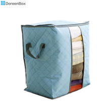 "Doreen Box Nonwovens Storage Container Bags Blue For Clothes Tidy Organizer Pouch Suitcase 48cm(18 7/8"") x 42cm(16 4/8""),1Piece"
