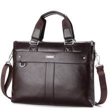 Men's Casual Shoulder Bags Male Business Briefcase PU Leather Messenger Bag Computer Laptop Handbag Bag Men's Travel Bags XB137