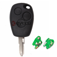 Remote Key 3 Button 433MHz Transponder Chip PCF7946 Uncut Blank Blade for Renault Clio Modus Master Twingo