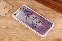 "For iPhone 5 5s 4.0"" 6 6S 4.7"" 6Plus 6sPlus 5.5"" Cases Butterfly Fun Glitter Star Liquid Quicksand Back Case Transparent  Cover"