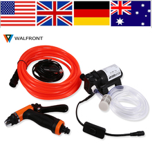 WALFRONT 12V Portable Water Pump Spray Gun High Pressure Self-priming Quick Car Cleaning Water Pump Electrical Washer Kit New