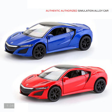 Hot 1:36 scale wheels diecast sport car honda luxury brand Acuras NSX metal model pull back alloy toys collection for kids gifts(China)