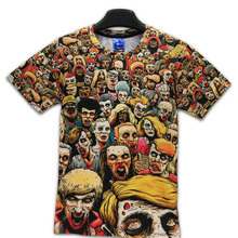 T-Shirt New The Walking Dead Men T Shirts Walker Skull Zombies High Quality Crewneck Top Tees Short Sleeve Summer(China)