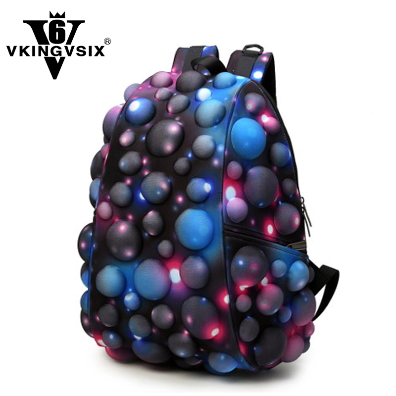 VKINGVSIX Star pattern canvas laptop backpack 14-17 school bags mochila Travel men Women boy bagpack for teenagers back pack<br>